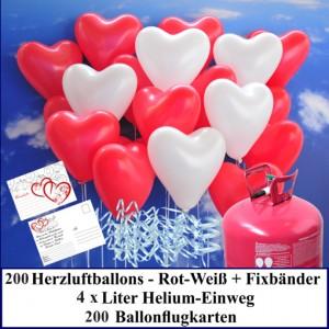 Luftballons-zur-Hochzeit-steigen-lassen-200-rote-und-weisse-Herzluftballons-Helium-Set-mit-Ballonflugkarten